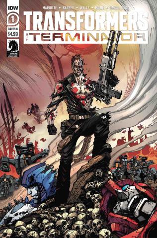 The Transformers vs. The Terminator #1 (Milne Cover)