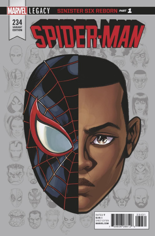 Spider-Man #234 (McKone Legacy Headshot Cover)