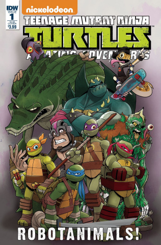 Teenage Mutant Ninja Turtles: Amazing Adventures - Robotanimals #1 (Subscription Cover)