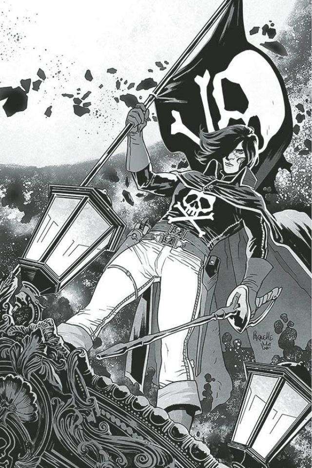 Space Pirate: Captain Harlock #1 (10 Copy Paquette B&W Virgin Cover)