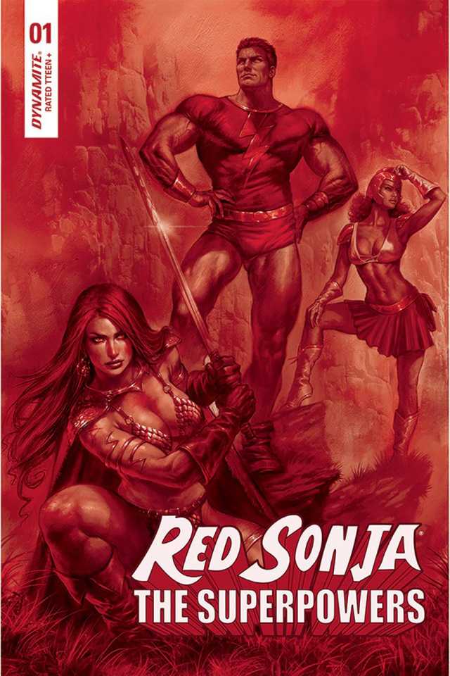 Red Sonja: The Superpowers #1 (Parrillo Crimson Red Art Cover)