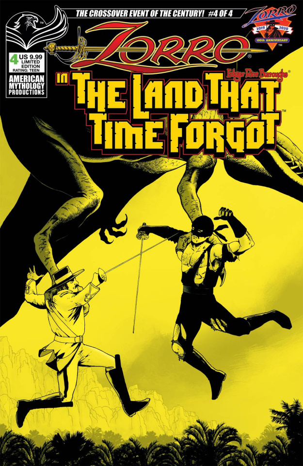 Zorro in The Land That Time Forgot #4 (Pulp Cover)