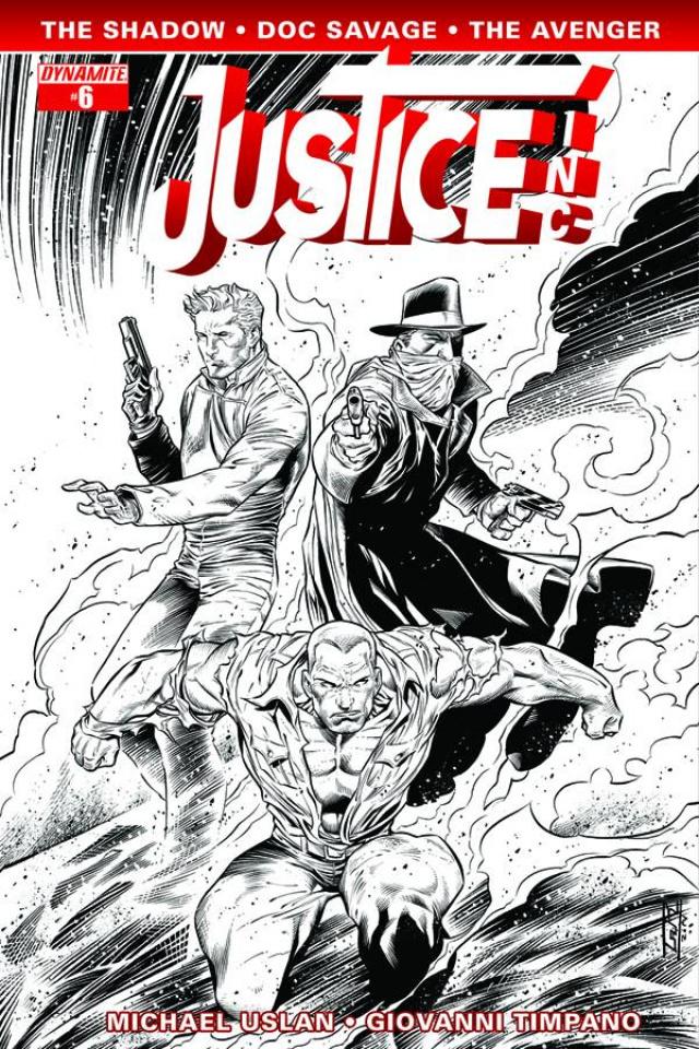 Justice, Inc. #6 (15 Copy Syaf B&W Cover)