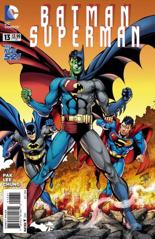 Batman / Superman #13 (Batman 75 Cover)