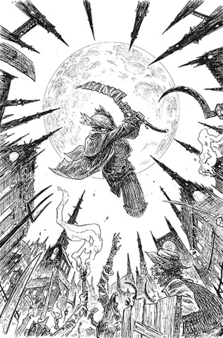 Bloodborne #13 (SDCC 2019 B&W Cover)