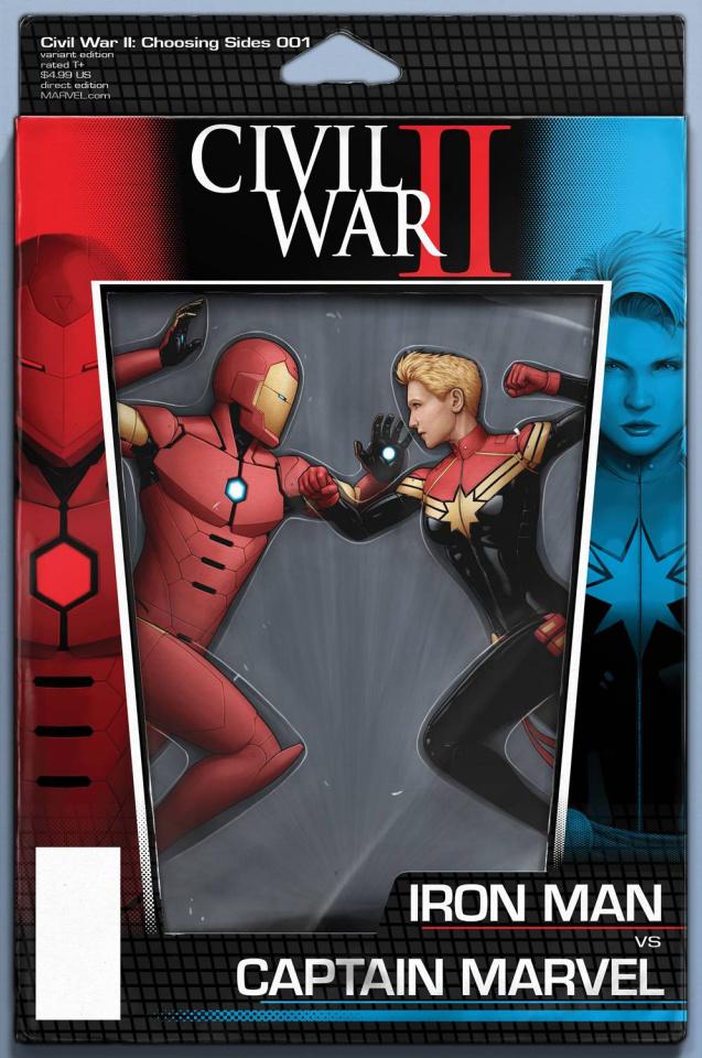 Civil War II: Choosing Sides #1 (Action Figure Cover)