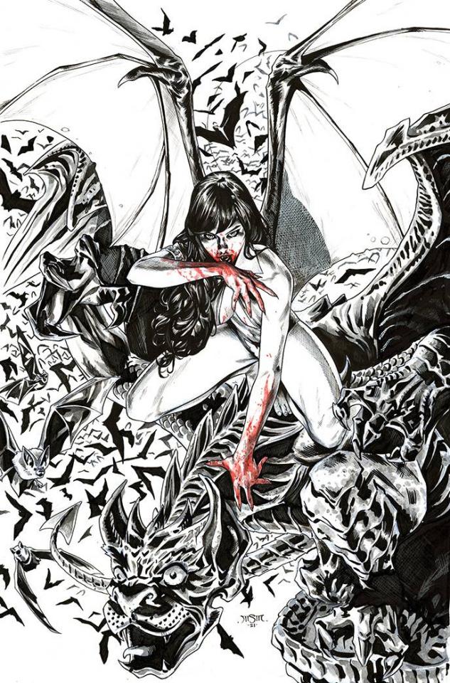 Vengeance of Vampirella #17 (21 Copy Sta Maria B&W Virgin Cover)