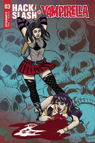 Hack/Slash vs. Vampirella #3 (Vaughn Cover)