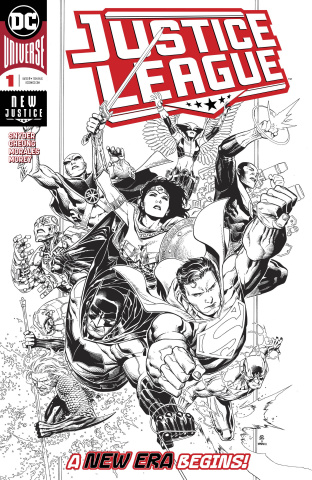 Justice League #1 (Jim Chueng Inks Only Cover)