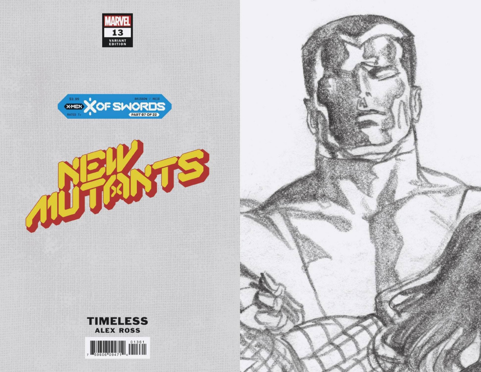New Mutants #13 (Alex Ross Colossus Timeless Virgin Sketch Cover)