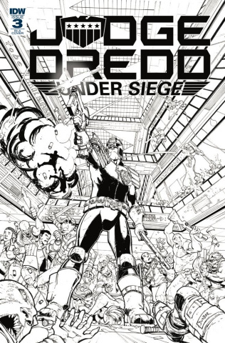 Judge Dredd: Under Siege #3 (10 Copy Dunbar Cover)