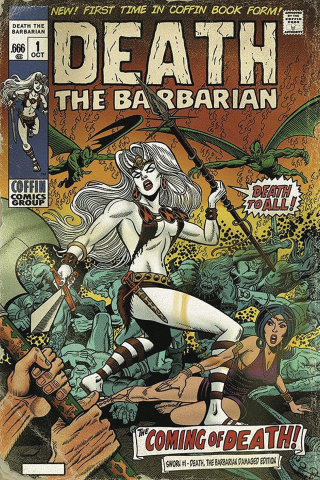 Lady Death: Sworn #1 (Death the Barbarian Damaged Cover)
