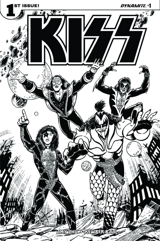 KISS #1 (Ruiz Coloring Book Cover)
