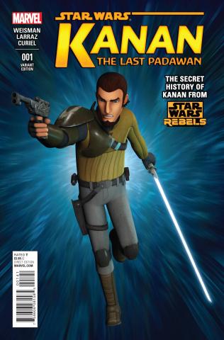 Kanan: The Last Padawan #1 (Rebels Television Show Cover)