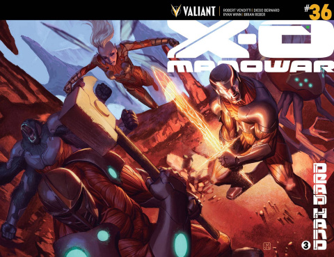 X-O Manowar #36 (Wraparound Molina Cover)