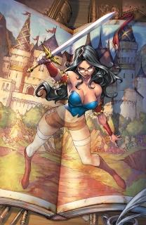 Grimm Fairy Tales: Snow White vs. Snow White #1 A (Pantalena Cover)