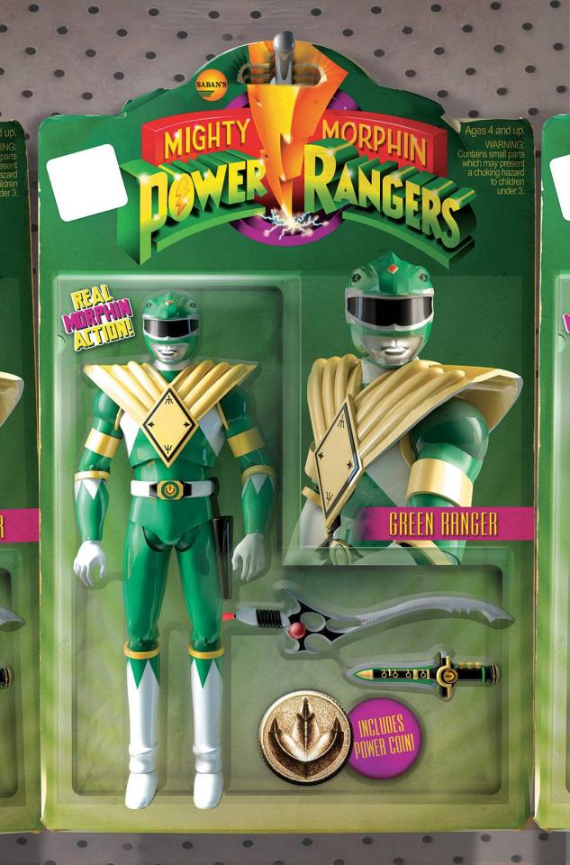 Mighty Morphin' Power Rangers #1 (Unlock Action Figure Cover)