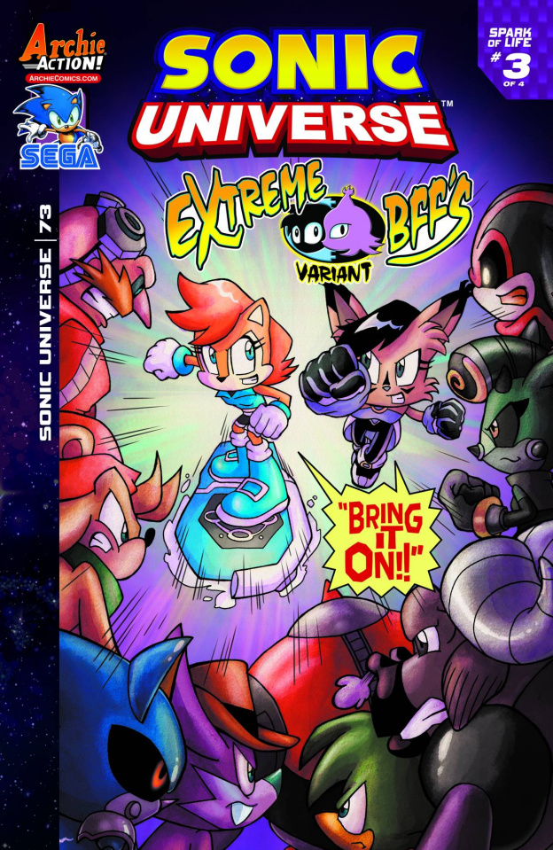 Sonic Universe #73 (Extreme BFFs Cover)