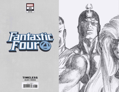 Fantastic Four #25 (Black Bolt Timeless Virgin Sketch Cover)