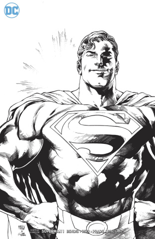 Superman #1 (Black and White Cover)