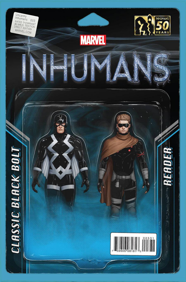 The Uncanny Inhumans #3 (Christopher Action Figure Cover)