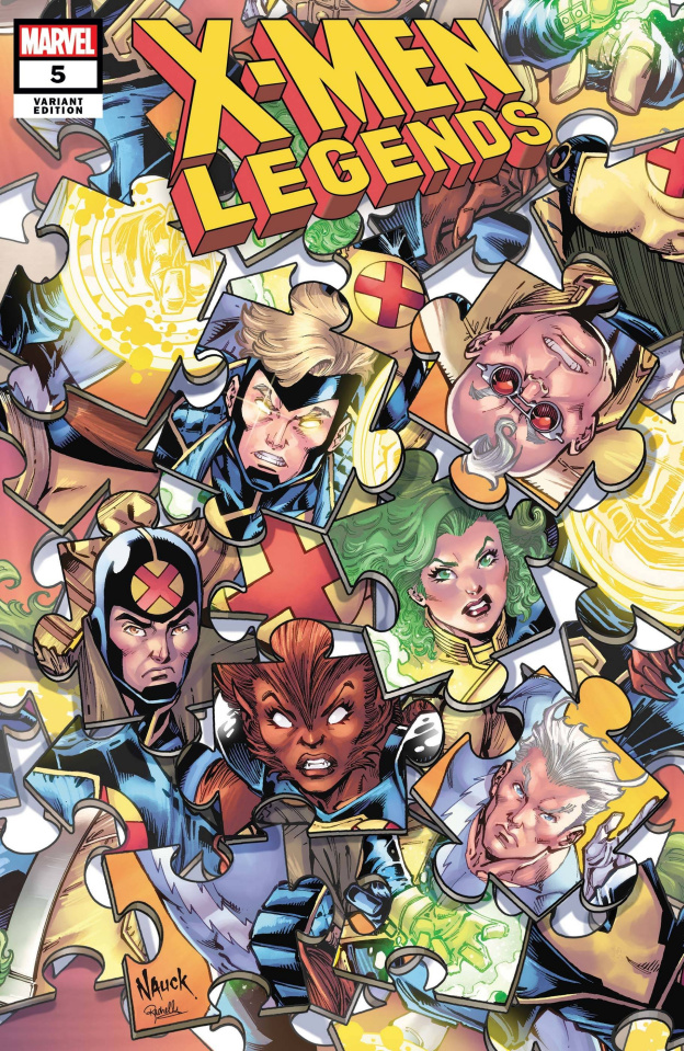 X-Men Legends #5 (Nauck Puzzle Cover)