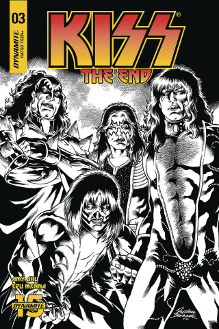 KISS: The End #3 (30 Copy Buchemi B&W Cover)