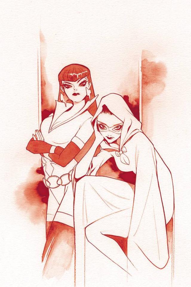 Vampirella: The Dark Powers #1 (OMomoko Crimson Red Line Art Virgin Cover)
