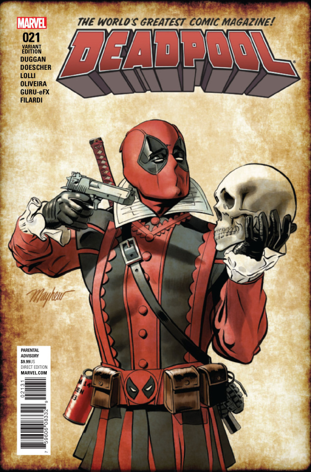 Deadpool #21 (Mayhew Shakespeare Cover)