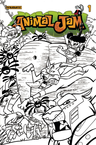 Animal Jam #1 (10 Copy Ruiz B&W Cover)