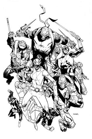 Power Rangers / Teenage Mutant Ninja Turtles #2 (50 Copy Cover)