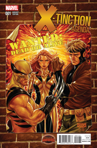 X-Tinction Agenda #1 (Brooks Wanted Cover)