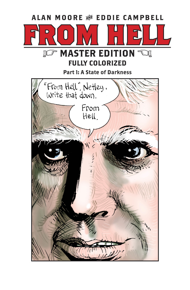 From Hell: Master Edition #1 (Campbell Cover)