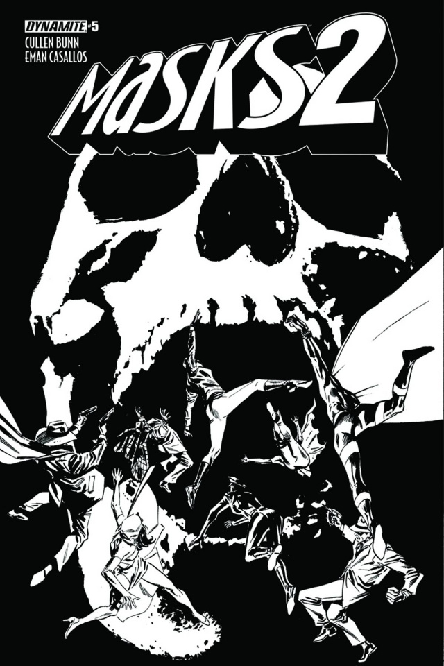 Masks 2 #5 (15 Copy Guice B&W Cover)