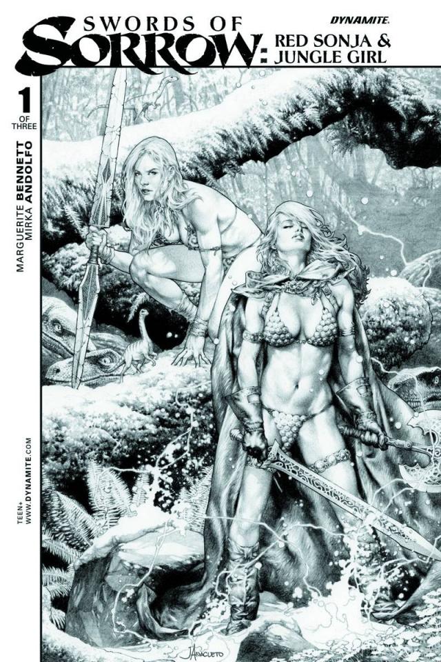Swords of Sorrow: Red Sonja & Jungle Girl #1 (10 Copy Cover)
