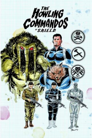 The Howling Commandos of S.H.I.E.L.D. #1 (Schoonover Design Cover)