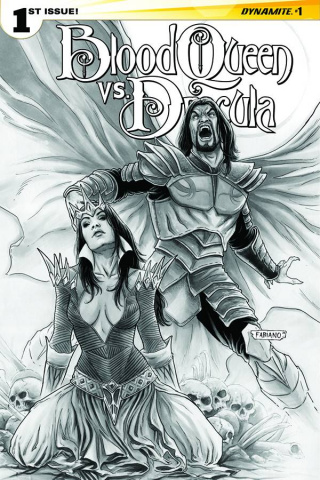 Blood Queen vs. Dracula #1 (15 Copy Neves B&W Cover)