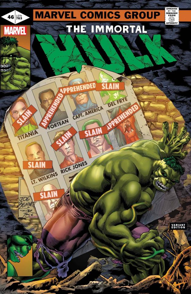 The Immortal Hulk #46 (Bennett Homage Cover)