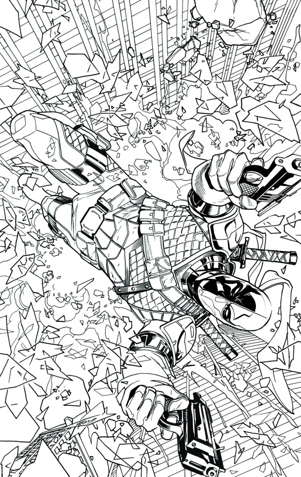 Deathstroke #14 (Adult Coloring Book Cover)