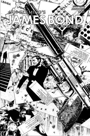 James Bond: Agent of SPECTRE #4 (20 Copy Guice B&W Cover)