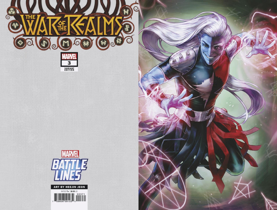 The War of the Realms #3 (Heejin Jeon Marvel Battle Lines Cover)