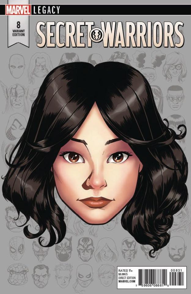 Secret Warriors #8 (McKone Legacy Headshot Cover)