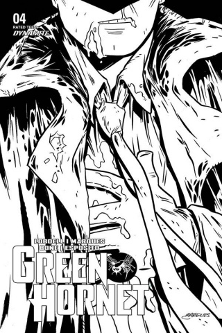 Green Hornet #4 (10 Copy Marques B&W Cover)