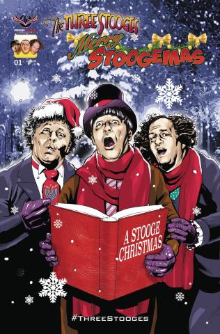 The Three Stooges: Merry Stoogemas (Larocque Cover)