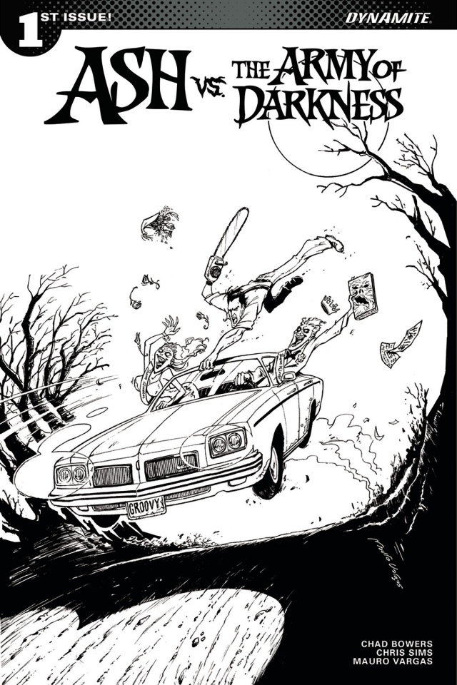 Ash vs. The Army of Darkness #1 (30 Copy Vargas B&W Cover)