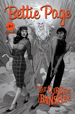 Bettie Page and The Curse of the Banshee #1 (25 Copy Mooney B&W Cover)