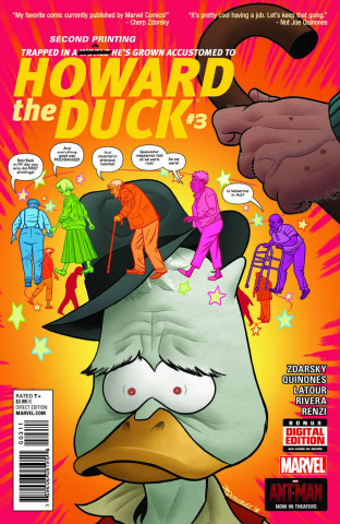 Howard the Duck #3 (Quinones 2nd Printing)