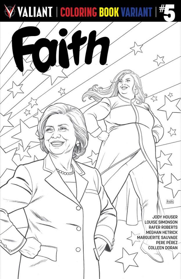 Faith #5 (Coloring Book Cover)