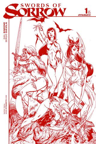 Swords of Sorrow #1 (50 Copy Campbell Blood Cover)