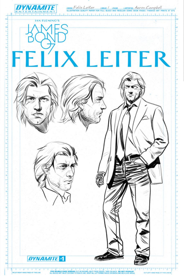 James Bond: Felix Leiter #1 (Campbell Artboard Cover)